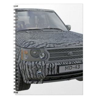 Rover Car in Camouflage Notebook