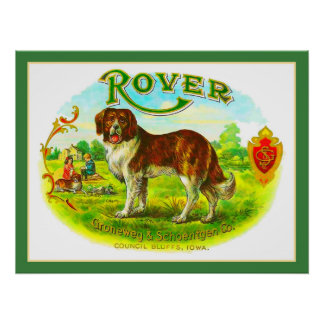 Rover Council Bluffs Iowa Vintage Print