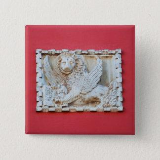 Rovinj Croatia Venetian winged lion plaque archite 2 Inch Square Button