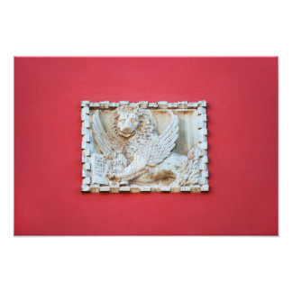 Rovinj Croatia Venetian winged lion plaque archite Photo Print