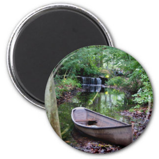 Row boat 2 inch round magnet