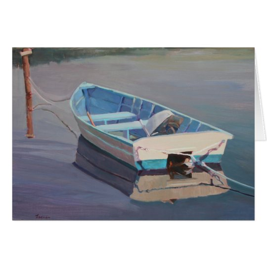 Row Boat Floating in the Water Card
