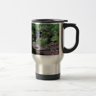 Row boat travel mug
