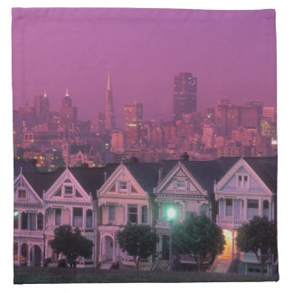 Row houses at sunset in San Francisco, Cloth Napkins