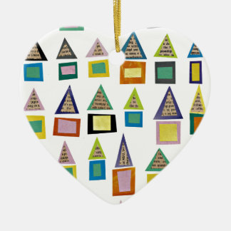 Row Houses Ceramic Ornament