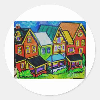 Row Houses Vermont Classic Round Sticker