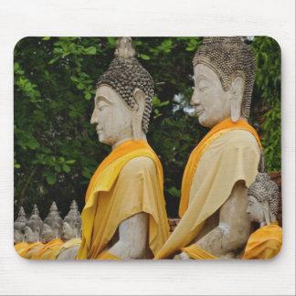 Row of Buddha statues, Wat Yai Chaya Mongkol Mouse Pad