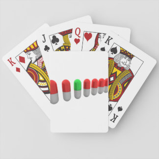 Row Of Capsules Playing Cards