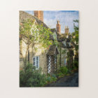 Row of cottages in Winchcombe, Gloucestershire 2 Jigsaw Puzzle