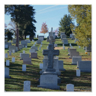 Row of Cross Headstones, Arlington Poster