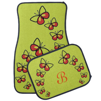 Row of Cute Butterflies Car Mat