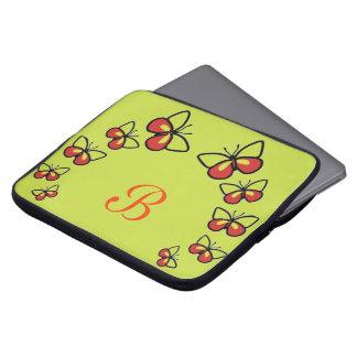Row of Cute Butterflies Laptop Sleeve