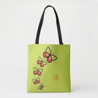 Row of Cute Butterflies Tote Bag