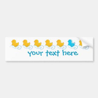 row of cute ducks bumper sticker