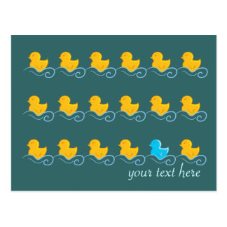 row of cute ducks card