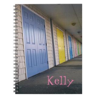 Row Of Doors Spiral Notebooks