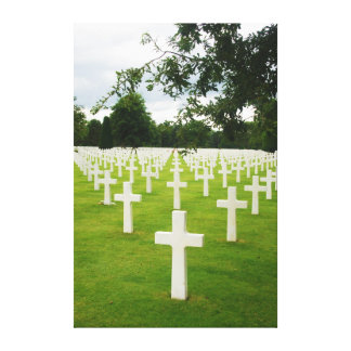 Row of Headstones Arlington National Cemetery Canvas Print