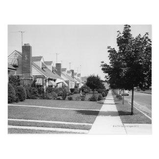 Row of Houses Postcard