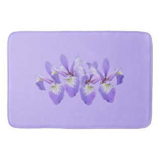 Row of Irises Bath Mat