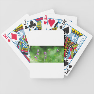 Row Of Irises Bicycle Playing Cards