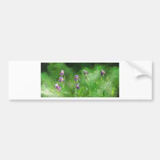 Row Of Irises Bumper Sticker