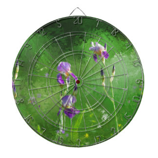Row Of Irises Dartboard