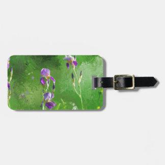 Row Of Irises Luggage Tag