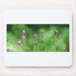 Row Of Irises Mouse Pad