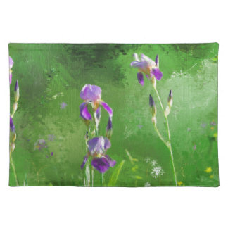 Row Of Irises Placemat