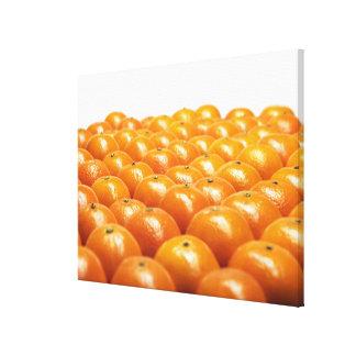 Row of oranges canvas print