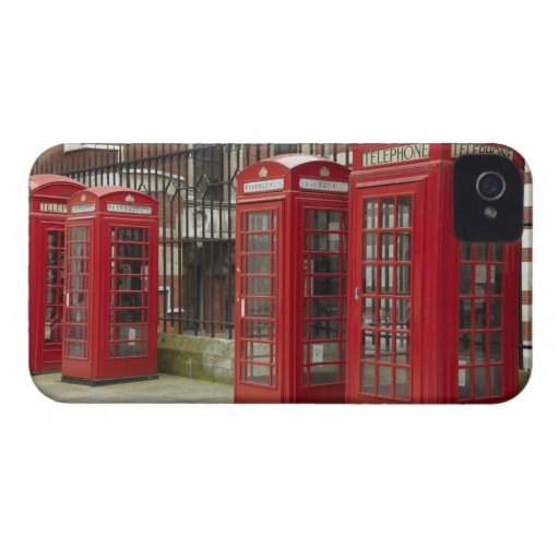 Row of phone boxes at the back of the Royal Case-Mate Blackberry Case