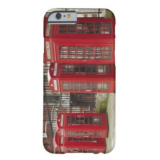 Row of phone boxes at the back of the Royal iPhone 6 Case