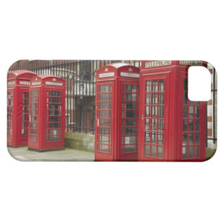 Row of phone boxes at the back of the Royal iPhone 5 Cover