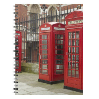 Row of phone boxes at the back of the Royal Spiral Notebook