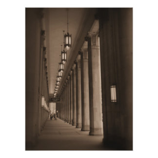 Row of Pillars - Civic Opera House - Chicago Poster