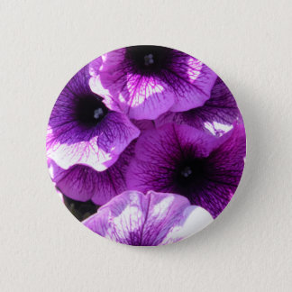 Row of Purple Wave Petunias 2 Inch Round Button
