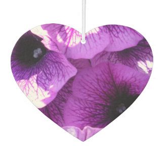 Row of Purple Wave Petunias Car Air Freshener