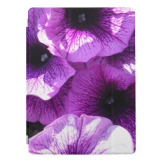 Row of Purple Wave Petunias iPad Pro Cover