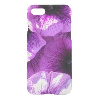 Row of Purple Wave Petunias iPhone 8/7 Case