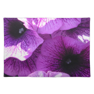 Row of Purple Wave Petunias Placemat