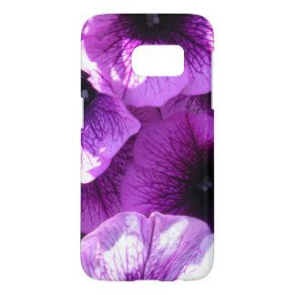 Row of Purple Wave Petunias Samsung Galaxy S7 Case