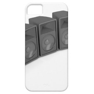 Row of speakers case for the iPhone 5