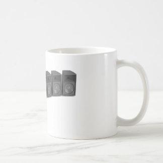 Row of speakers coffee mug