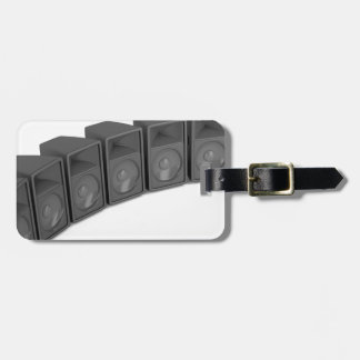 Row of speakers luggage tag