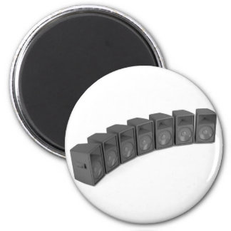 Row of speakers magnet