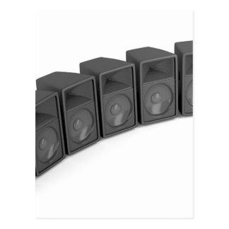 Row of speakers postcard