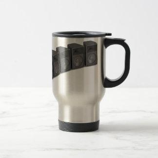 Row of speakers travel mug