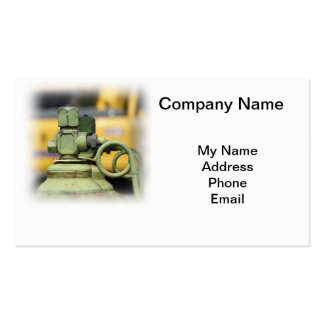 Row of Steel Oxygen and Acetylene Bottles Business Card Template