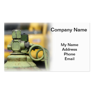 Row of Steel Oxygen and Acetylene Bottles Business Cards