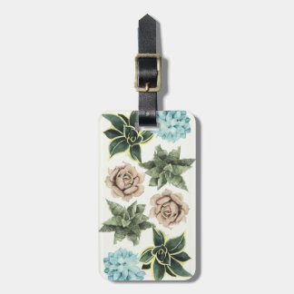 Row of Succulents Luggage Tag